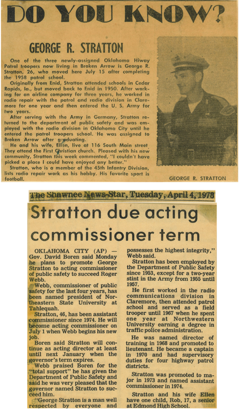 George Stratton Trooper to Commissioner