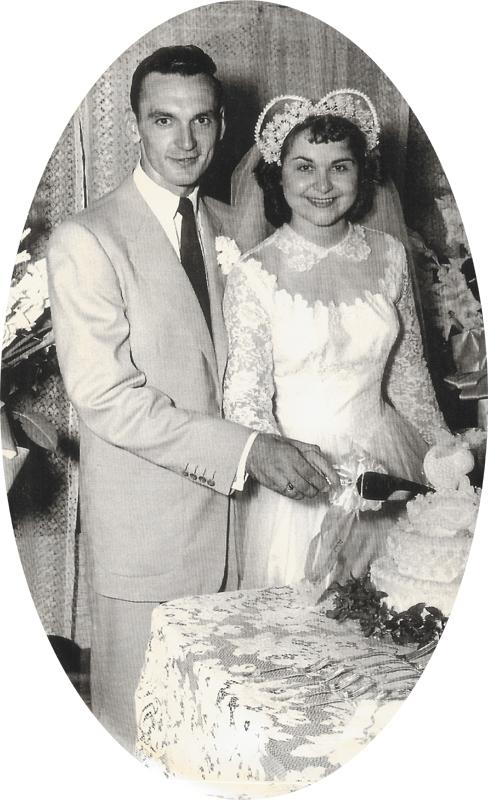George Stratton Wedding Picture Enid 8/12/52